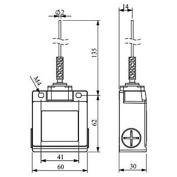 L53K13SOM101 Metal Spiral Telli Limit Switch EMAS