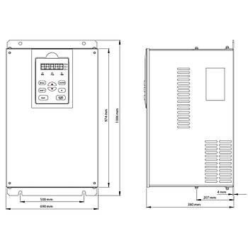 FV100-4T-2800G/3150L 280 KW 3/3 Faz Hýz Kontrol Cihazý (Sürücü) KÝNCO