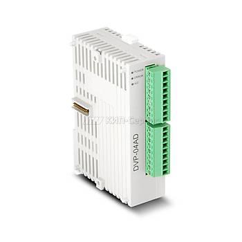 DVP04AD-S 4'lü Analog Giriþ PLC Modülü DELTA