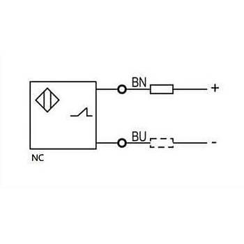 LR12TBF02DLC M12 2 Uçlu NC 10-30VDC Ýndüktif Sensör LANBAO