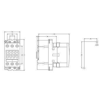 3RT1035-1AP00 40A (18,5KW) 230VAC Sirius Kontaktör SIEMENS