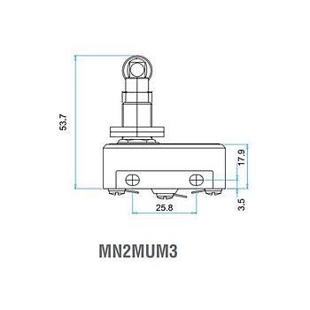 MN2MUM3 Metal Makaralı (Eksene Paralel) Pimli Asal Siviç EMAS