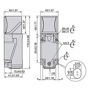XS8C4A4MPG13 PNP 40mm Kübik Endüktif Sensör SCHNEIDER