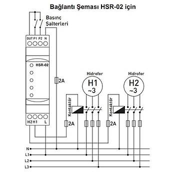 HSR-02 2'li Hidrofor Sýralama Rölesi TENSE