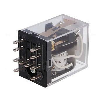 MY2K 24VDC  2CO (DPDT) Kontaklý Çift Bobinli (Latch) Röle OMRON