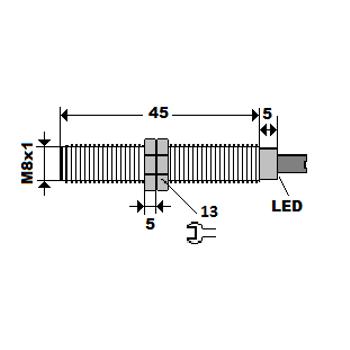 ME1-S8-NA M8 1.5mm NPN/NO Ýndüktif Sensör MEFA