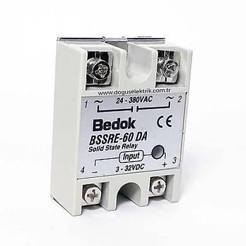BSSRE-60DA 60A Solid State Röle (SSR) 3-32VDC/24-380VAC BEDOK