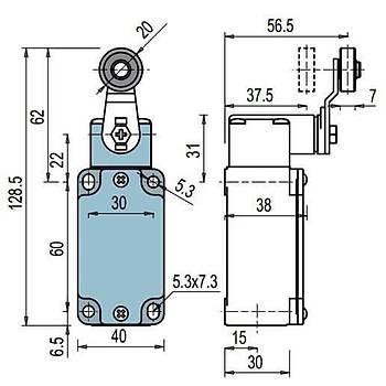 FD 531 Makaralý Kollu Limit Switch PIZZATO