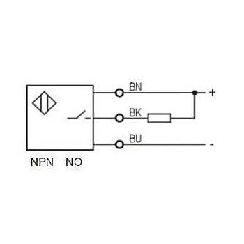 LR12TBF04DNOY-E2 M12 NPN/NO Konnektörlü Ýndüktif Sensör LANBAO