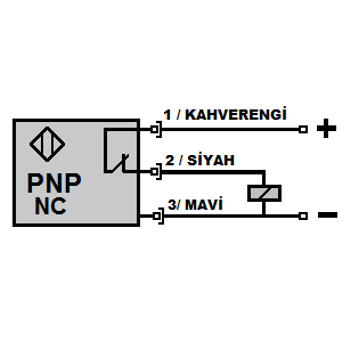 ME2-S12K-PK M12 2mm PNP/NC Kýsa Gövdeli Ýndüktif Sensör MEFA