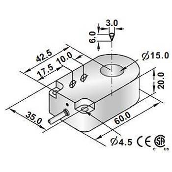 RRP2-R1520P-A3U2 15mm PNP/NO İndüktif Ring Sensör SCAN