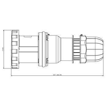 5x125A CEE Norm Trifaze Uzatma Prizi 318.12547 SCAME