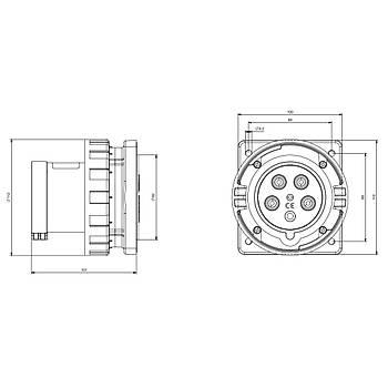 5x63A CEE Norm Trifaze Makine Fiþi 248.6397 SCAME