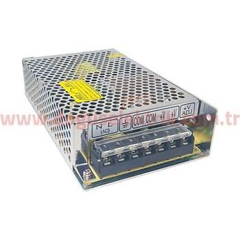 24VDC 8,3A (200W) Giriþ:110/230VAC Delikli Tip Güç Kaynaðý MS-200-24 HVIELE
