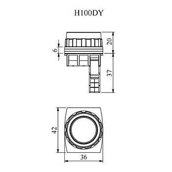 H100DY 30mm 1NA Kontaklý Yaylý Start Butonu (Yeþil) EMAS