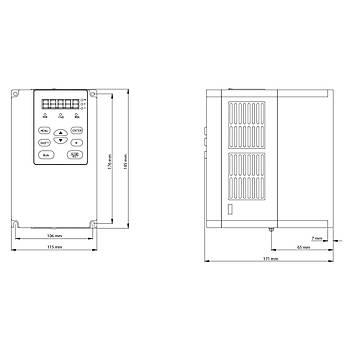 FV100-4T-0037G/0055L 3,7 KW 3/3 Faz Hýz Kontrol Cihazý (Sürücü) KÝNCO