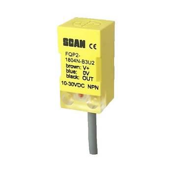FQP2-1804N-B3U2 5mm NPN/NC 10-30VDC Ýndüktif Kübik Sensör SCAN