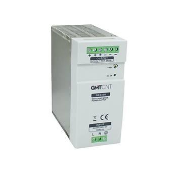 GK240R 24VDC 10A Ray Tipi Güç Kaynaðý GMT