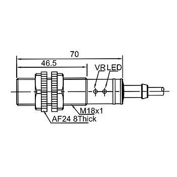 CR18TSCF05DNR M18 5mm NPN NO/NC Kapasitif Sensör LANBAO