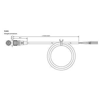 M12 4 Pinli 5m Kablolu Düz Konnektör XS2F-LM12PVC4S5M OMRON