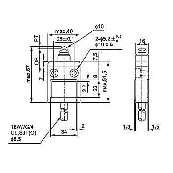 CZ-3110 Metal Pimli Kablolu IP67 Limit Siviç CNTD