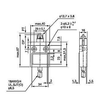 CZ-3102 Metal Makaralý Pimli Kablolu IP67 Limit Siviç CNTD