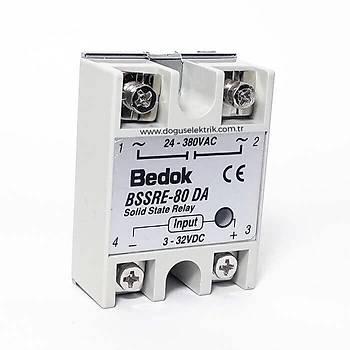 BSSRE-80DA 80A Solid State Röle (SSR) 3-32VDC/24-380VAC BEDOK