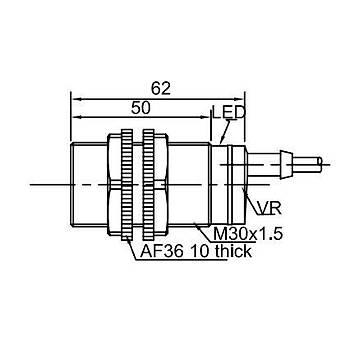 CR30TSCF10DNR M30 10mm NPN NO/NC Kapasitif Sensör LANBAO