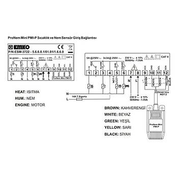 ESM-3722 230VAC Dijital Kuluçka Kontrol Cihazý EMKO