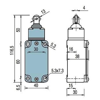 FD 515 Makaralý Pimli Limit Switch PIZZATO