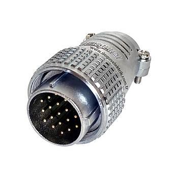 19 Pinli Seyyar Erkek Metal Konnektör P24F-19A MAOJWEI