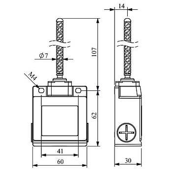 L53K13SOP103 Metal Spiral Telli Ucu Plastik Limit Switch EMAS Kopyasý Kopyasý