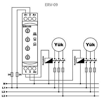 ERV-09 100 Saate Kadar Ayarlanabilir Flaşör Zaman Rölesi TENSE