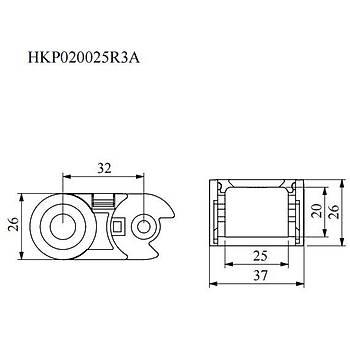20x25mm Hareketli Kablo Taþýma Kanalý HKP020025R3A EMAS