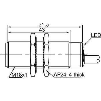 LR18TBF05DPC M18 PNP/NC Ýndüktif Sensör LANBAO
