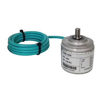 F50-1024 1024 Pulse Totem Pole Artýmlý Enkoder FENAC