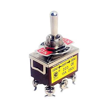 IC-160 ON-OFF-ON Yaylý Toggle Switch (6P) DAIER