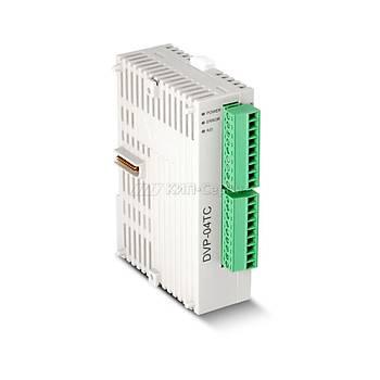 DVP04TC-S 4 Termokupl Giriþli PLC Sýcaklýk Modülü DELTA