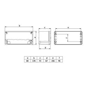 80x170x73mm IP67 Alüminyum Buat 402510 METE ENERJÝ