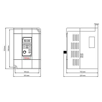 CV100-4T-0007G 0,75 KW 3/3 Faz Hýz Kontrol Cihazý (Sürücü) KÝNCO