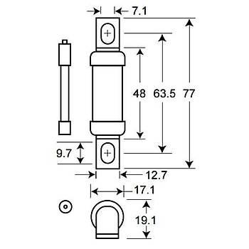 80FE 80A Ultra-Rapid (Hýzlý) Sigorta BUSSMANN
