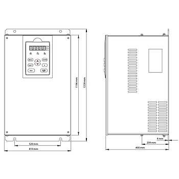 FV100-4T-3550G/4000L 355 KW 3/3 Faz Hýz Kontrol Cihazý (Sürücü) KÝNCO