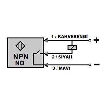 ME2-S12K-NA M12 2mm NPN/NO Kýsa Gövdeli Ýndüktif Sensör MEFA