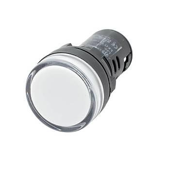 22mm Beyaz Ledli  Sinyal Lambasý 220V AC CHINT