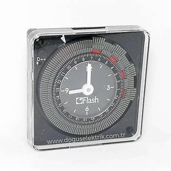 16001 24 Saat Mekanik Zaman Saati FLASH