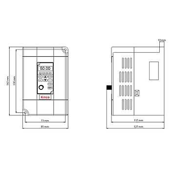 CV100-2S-0022G 2,2 KW 1/3 Faz Hýz Kontrol Cihazý (Sürücü) KÝNCO
