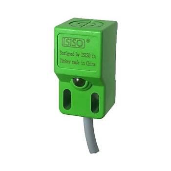 IPN8-B18-E2 8mm PNP/NO 10-30VDC Ýndüktif Kübik Sensör ISISO