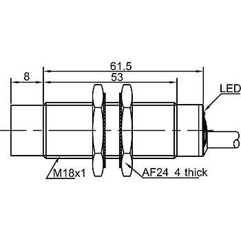 LR18TCF05ATC M18 NC Kontaklý Ýndüktif Sensör LANBAO
