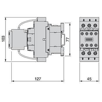LC1DLK11M7 20 KVAR Kondansatör Kontaktörü SCHNEIDER