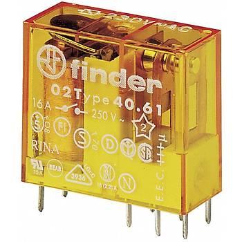 40.61 230VAC 1CO (SPDT) Kontaklý PCB Röle FINDER